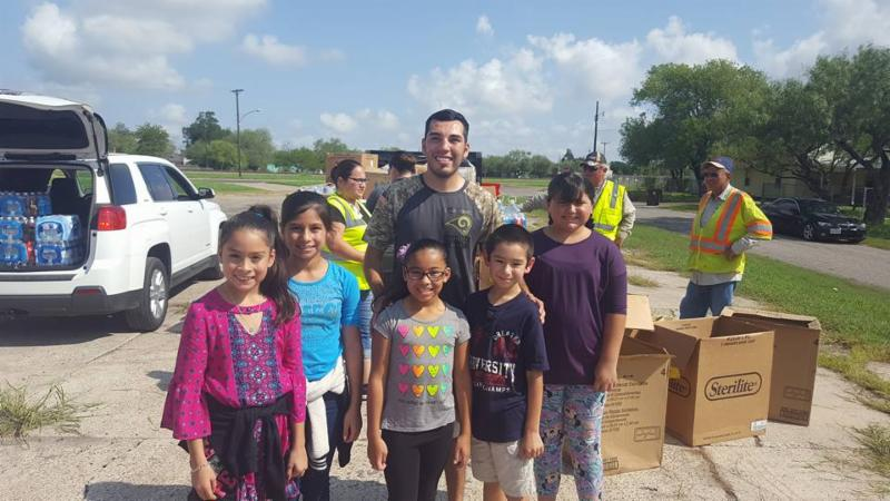 Students Helping After Hurricane Harvey